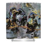 Crows In A Row Shower Curtain