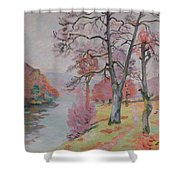 Crozant Brittany Shower Curtain