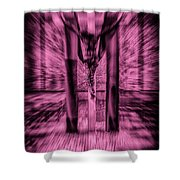 Crucified Shower Curtain