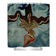 Crucified Woman Surreal I Shower Curtain