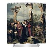 Crucifixion Shower Curtain by Eduard Karl Franz von Gebhardt