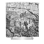 Cruikshank: London, 1851 Shower Curtain