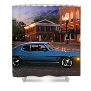 Cruise Night In Liberty Shower Curtain