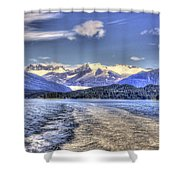 Cruise Ship Mountains 2 Shower Curtain