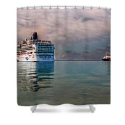 Cruise Ship Parking Shower Curtain