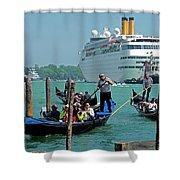 Cruise Ship Port Of Venice Shower Curtain