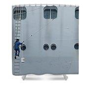 Cruise Ship Window Washer Shower Curtain