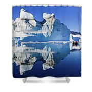 Cruising Between The Icebergs, Greenland Shower Curtain
