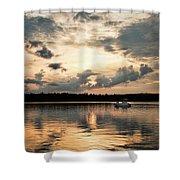 Cruising, Eagle Lake, Almaguin Highlands, Ontario Shower Curtain
