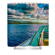 Cruising Hispaniola Shower Curtain
