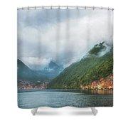 Cruising Lake Como Italy Shower Curtain