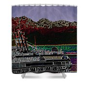 Cruising Puget Sound Shower Curtain