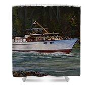 Cruising The British Columbia Gulf Islands, Canada                                       Shower Curtain