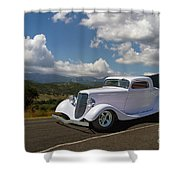 Cruizing Model A Ford Hot Rod Shower Curtain