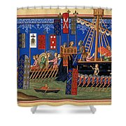 Crusades 14th Century Shower Curtain