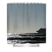 Crusing Seas Shower Curtain