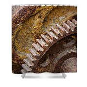 Crusty Rusty Gears Shower Curtain