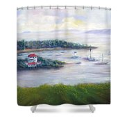 Cruz Bay Remembered Shower Curtain