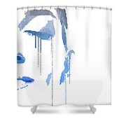 Crying In Pain Shower Curtain