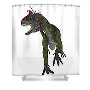 Cryolophosaurus Dinosaur Aggression Shower Curtain