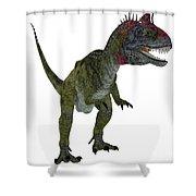 Cryolophosaurus On White Shower Curtain