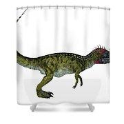 Cryolophosaurus Side Profile Shower Curtain