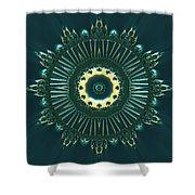 Crystal Ahau 657545 Shower Curtain