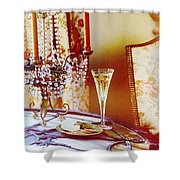 Crystal And Champagne Shower Curtain