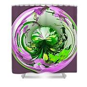 Crystal Ball Flower Garden Shower Curtain
