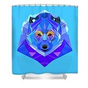Crystal Bear - 90 Shower Curtain