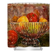 Crystal Bowl Of Fruit Shower Curtain