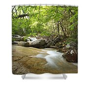 Crystal Brook - Lincoln New Hampshire Usa Shower Curtain