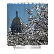 Crystal Capitol Shower Curtain