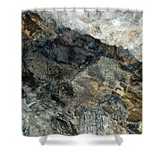 Crystal Cave Marble Ceiling Shower Curtain