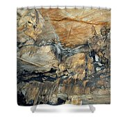 Crystal Cave Marble Formations Portrait Shower Curtain