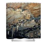 Crystal Cave Marble Shower Curtain