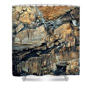 Crystal Cave Marble Sequoia Portrait Shower Curtain