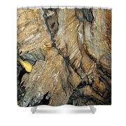 Crystal Cave Wall Formations Shower Curtain