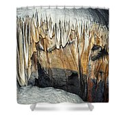 Crystal Cave Waves Shower Curtain