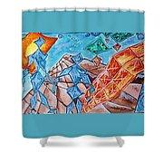 Crystal City Shower Curtain