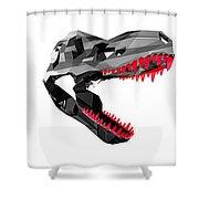 Crystal Dinosaur - 46 Shower Curtain