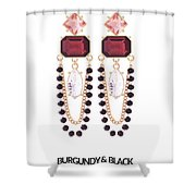 Crystal Earrings For Women Shower Curtain