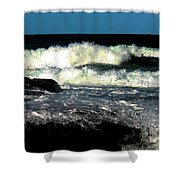 Crystal Fingers Of The Sea Shower Curtain