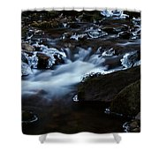 Crystal Flows In Hdr Shower Curtain by Joseph Noonan