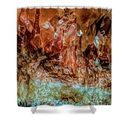 Crystal Formations Shower Curtain