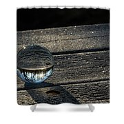 Crystal Frost Shower Curtain