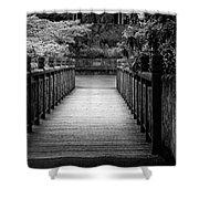 Crystal Garden Bridge Shower Curtain