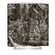 Crystal Mill Marble Colorado Sepia Dsc06944 Shower Curtain