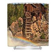 Crystal Mill Rainbow Shower Curtain