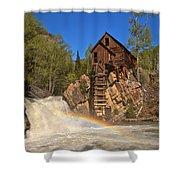 Crystal Mill Rainbow Portrait Shower Curtain